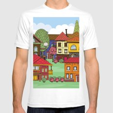Town Mens Fitted Tee White SMALL