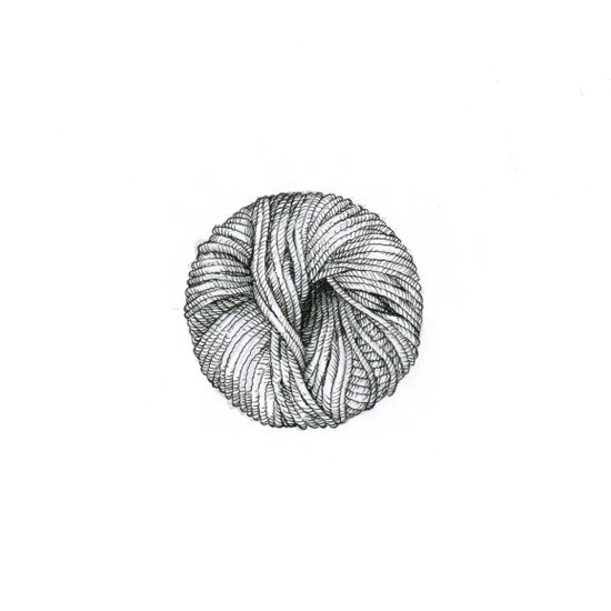 Ball of yarn Art Print