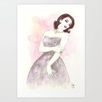 'Scarlett' Watercolor Fa… Art Print