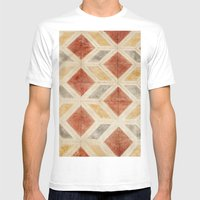 Rombos Rojos Mens Fitted Tee White SMALL