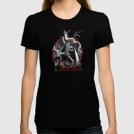 Tesla: God Of Thunder Womens Fitted Tee Black LARGE