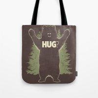 Bear Hug? (dark Version) Tote Bag