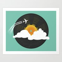 Sunburst Records Art Print
