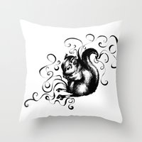 Throw Pillow featuring Squirrel by Mary Mohr
