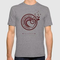 Happy Valentine's Day Mens Fitted Tee Athletic Grey SMALL
