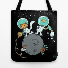 Space Kitty and Captain Fish Tote Bag