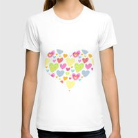 Spring Hearts Womens Fitted Tee White SMALL