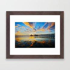 Huntington Beach Pier Su… Framed Art Print