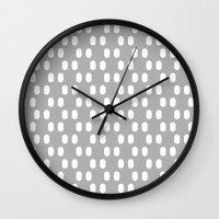Aelbrecht Grey Pattern Wall Clock