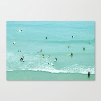 Surfing Vintage. Summer … Canvas Print