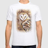 Winter's Owl Mens Fitted Tee Ash Grey SMALL