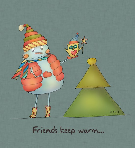 Friends keep warm - greyish Canvas Print
