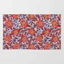 Coral Summer - a hand drawn floral pattern Rug