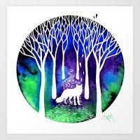 The Night Fox Art Print