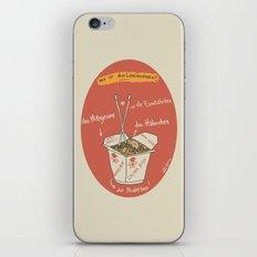 Die Nudelbox iPhone & iPod Skin