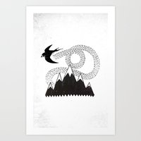 Mountain Swallow Art Print