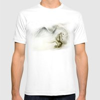 Pegasus Mens Fitted Tee White SMALL