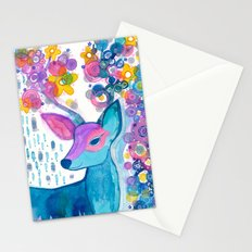 blue deer Stationery Cards