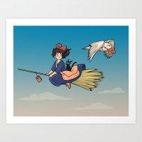 Magical Deliveries Art Print