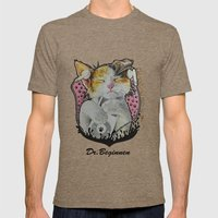 Drawing by Reeve Wong Mens Fitted Tee Tri-Coffee SMALL