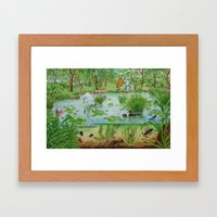 A Day Of Forest (4). (th… Framed Art Print
