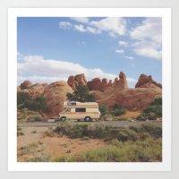 Rock Camper Art Print