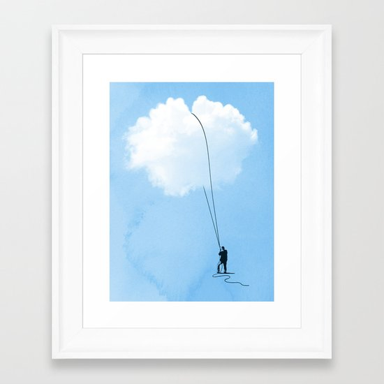 Clearing Things Up Framed Art Print