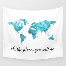 Oh, the places you will go Wall Tapestry