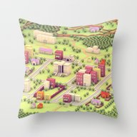 EarthBound - Town Of One… Throw Pillow