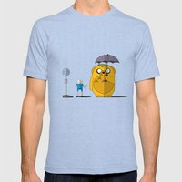 Adventure Time Totoro Mens Fitted Tee Tri-Blue SMALL
