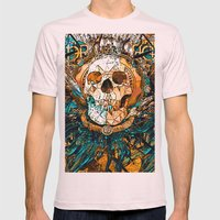 Old Skull Mens Fitted Tee Light Pink SMALL