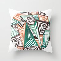 Funky In The Middle Throw Pillow