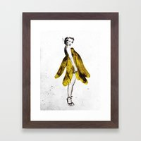 a lady's dream Framed Art Print