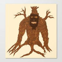 Tree Stitch Monster Canvas Print