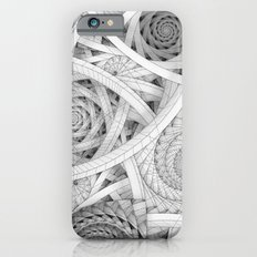 GET LOST - Black and White Spiral iPhone 6 Slim Case
