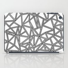 Abstract New Black on White iPad Case