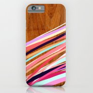 iPhone & iPod Case featuring Wooden Waves Coral by Jenny Mhairi