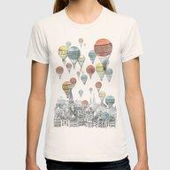 T-shirt featuring Voyages Over Edinburgh by David Fleck