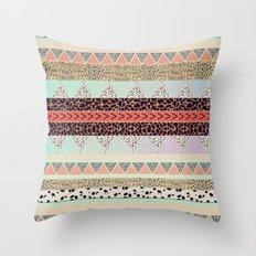 Leopard  print HIAWATHA   Throw Pillow
