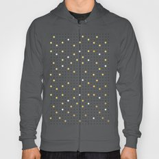 Pin Points Grey, Gold and White Hoody