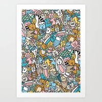 Art Print featuring ANIMAL PARTY by Ana Depuntillas