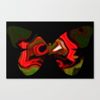 Abstraction butterfly Canvas Print