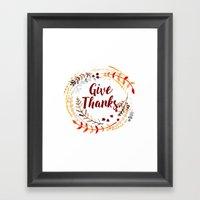 Give Thanks Framed Art Print