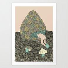 Onion Feed Art Print