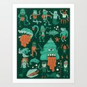Wow! Creatures!  Art Print