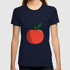 Apple 01 Womens Fitted Tee Navy SMALL