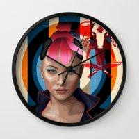 Queen Of Darkness Far Cr… Wall Clock