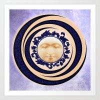 Nouveau Spring Moon Art Print