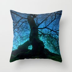 Tree under a spangled sky (light) Throw Pillow