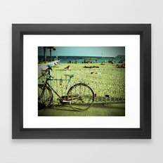 Bicycle by the Beach Framed Art Print